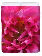 Dahlia Named Pretty In Pink Duvet Cover