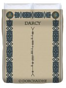 Darcy Written In Ogham Duvet Cover