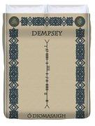 Dempsey Written In Ogham Duvet Cover