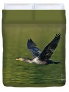 Double Crested Cormorant Duvet Cover