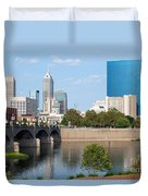 Downtown Indianpolis Indiana Skyline Duvet Cover