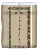 Dunne Written In Ogham Duvet Cover