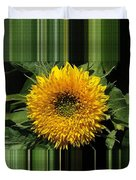 Dwarf Sunflower Named Teddy Bear Duvet Cover