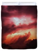 Dying Storm Cells With Fantastic Lightning Duvet Cover