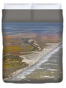 East Coast Aerial Near Jekyll Island Duvet Cover