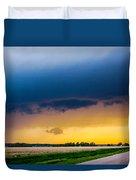 Elm Creek Nebraska Supercell Duvet Cover