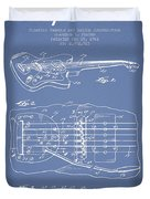 Fender Floating Tremolo Patent Drawing From 1961 - Light Blue Duvet Cover by Aged Pixel