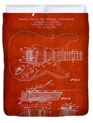 Fender Tremolo Device Patent Drawing From 1956 Duvet Cover