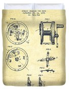 Fishing Reel Patent From 1896 Duvet Cover