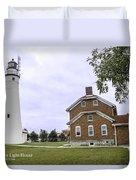 Fort Gratiot Light House Duvet Cover