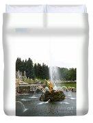 Fountain In Petergof Duvet Cover
