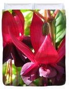 Fuchsia Named Roesse Blacky Duvet Cover