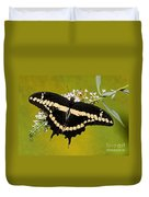 Giant Swallowtail Butterfly Duvet Cover