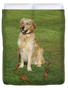 Golden Retriever Dog Duvet Cover