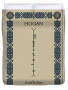 Hogan Written In Ogham Duvet Cover