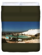 Hot Springs And Travertine Pool Duvet Cover