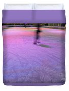 Ice Skating Duvet Cover