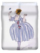 Illustration For 'fetes Galantes' Duvet Cover