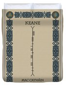 Keane Written In Ogham Duvet Cover
