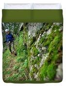 Keketuohai Park, China China Climbing Duvet Cover