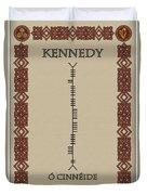 Kennedy Written In Ogham Duvet Cover