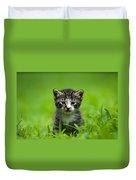 Kitty In Grass Duvet Cover
