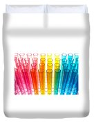 Laboratory Test Tubes In Science Research Lab Duvet Cover