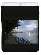 Lake Front With Trees Duvet Cover