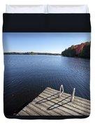 Lake In Autumn Duvet Cover