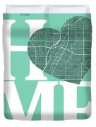 Las Vegas Street Map Home Heart - Las Vegas Nevada Road Map In A Duvet Cover
