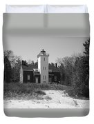 Lighthouse - 40 Mile Point Michigan Duvet Cover