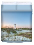 Sullivan's Island Dunes To Lighthouse View Duvet Cover