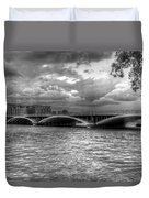 London Thames Bridges Bw Duvet Cover