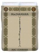 Macnamara Written In Ogham Duvet Cover