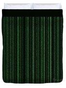 Matrix Green Duvet Cover