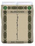 Mcfadden Written In Ogham Duvet Cover