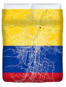 Medellin Street Map - Medellin Colombia Road Map Art On Colored  Duvet Cover