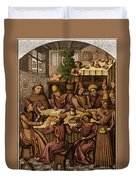 Medieval Accountants, 1466 Duvet Cover