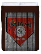 Miami Marlins Duvet Cover