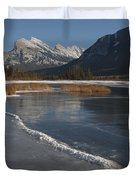 Mt. Rundle And Vermillion Lake Duvet Cover
