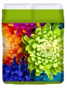 Multicolored Chrysanthemums  Duvet Cover