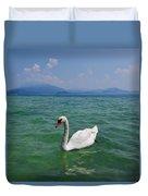 Mute Swan. Sirmione. Lago Di Garda Duvet Cover