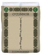 O'connor Written In Ogham Duvet Cover