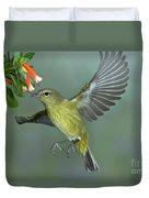 Orange-crowned Warbler Duvet Cover