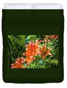 Orange Lilium Duvet Cover