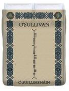 O'sullivan Written In Ogham Duvet Cover