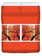 4-panel Snow On The Orange Cherry Blossom Trees Duvet Cover