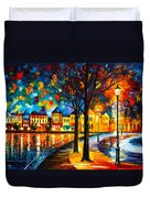 Park By The River Duvet Cover