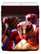Peruvian Dancers At The Parade In Cusco Duvet Cover