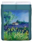 Provence Lavender Field Duvet Cover